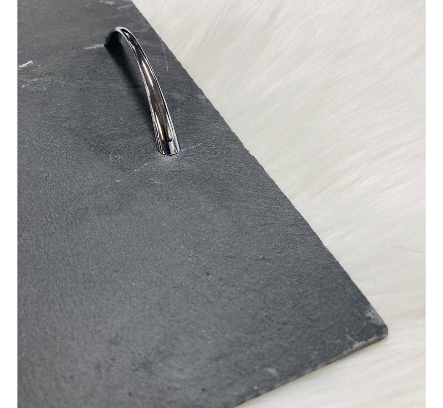Leisteenplateau met handvaten