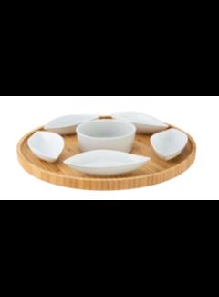 Cosy&Trendy Bambu sunum tahtasi + 6 adet kase