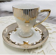 Hayal Mokkaset voor 6 personen creme/gold