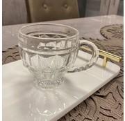 BY 6 adet kulplu çay bardakları