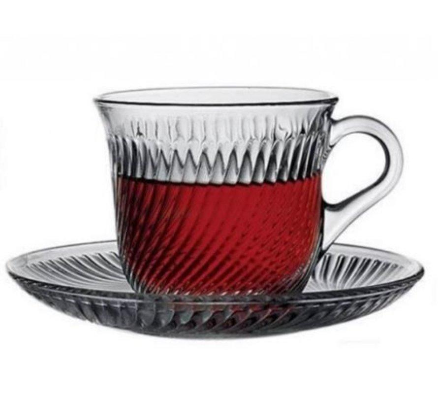 Thee/koffieglazen met handvat Marmara 12 delig