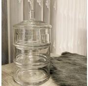 Hayat home Glazen bonbonniere (3 laags met deksel)