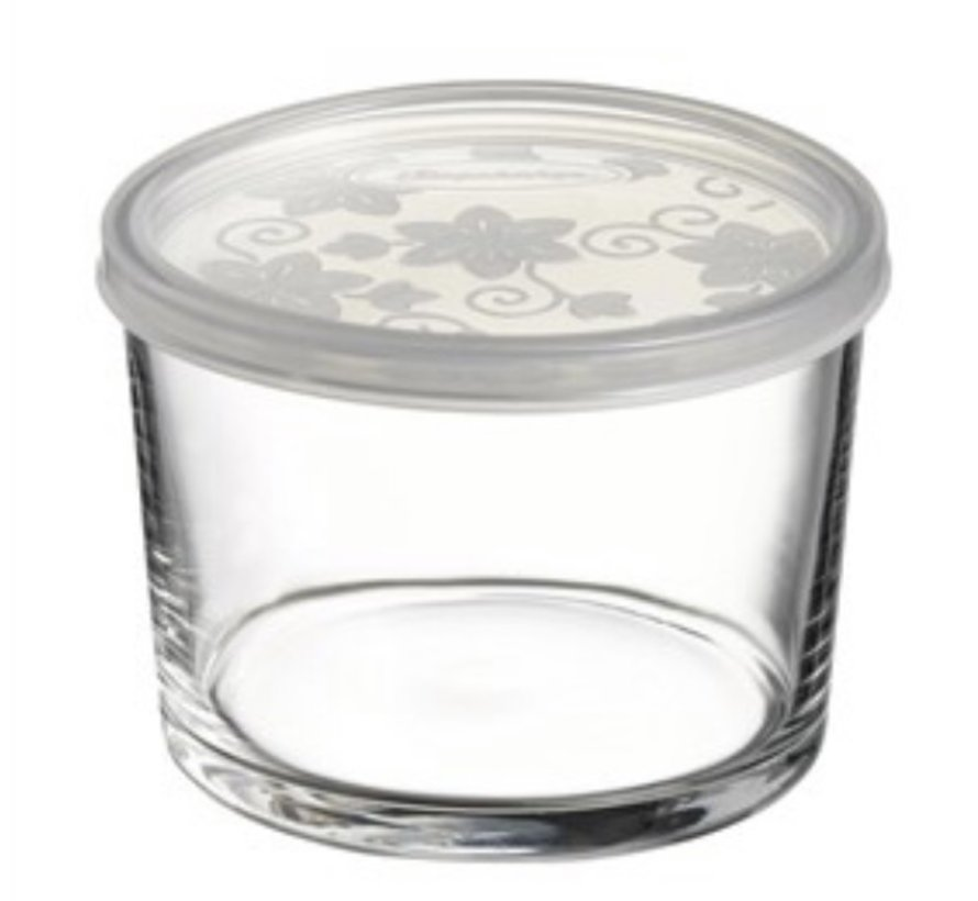 Glazen schalen met deksel 2 stuks ''Bistro''