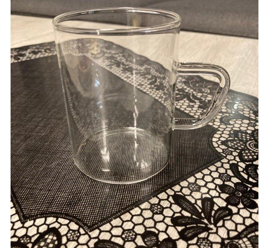 Hittebestendige glazen met handvat 6 delig