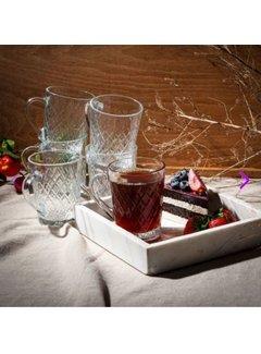 Paşabahçe Theeglazen met handvat  2 stuks ''Ruby''