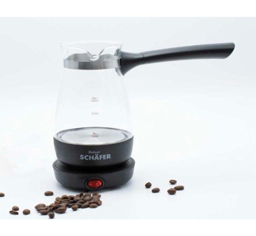 Elektrikli Turk kahvesi makinesi siyah
