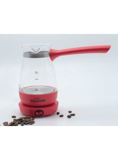 Schafer Elektrikli Turk kahvesi makinesi acik kirmizi