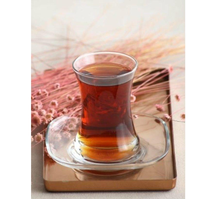 Glazen theeonderzetters 6 delig Zen