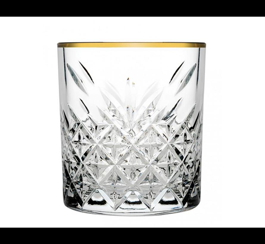 Paşabahçe Timeless Golden Touch glazen set van 4