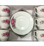 Kutahya Porselen Turkse koffieset (Rozen) (12-delig)