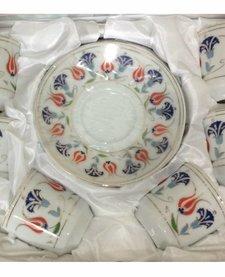Bricard porselen Türk kahvesi seti