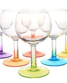 Luminarc gekleurde wijnglazen (6 stuks)