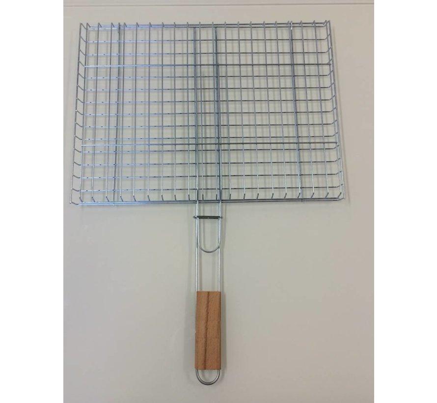 saplı barbekü ızgara 29x39cm