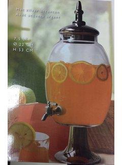 Fluent glazen dispenser 7,5L