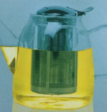 glazen theepot met filter