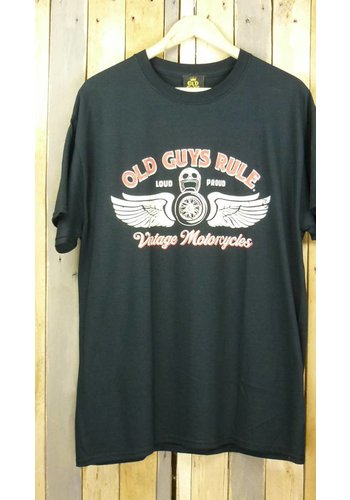 Old Guys Rule T-Shirt -Vintage Motorcycles