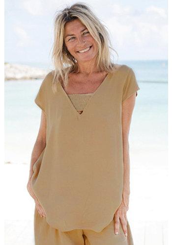 Melé Beach Ibiza Top Rodo Camel