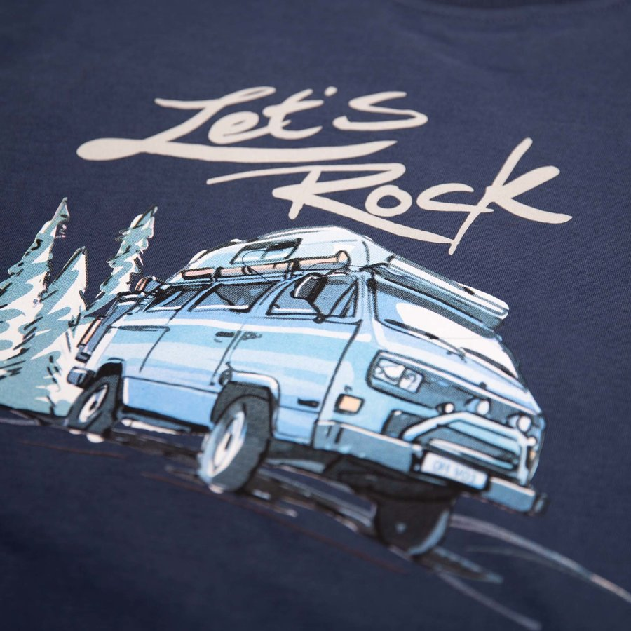 Van One Lets Rock Navy