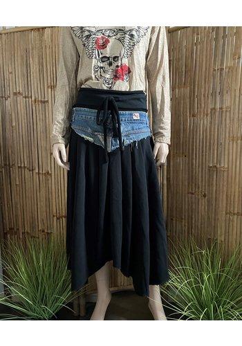 One Hippie Rok Zwart Jeans