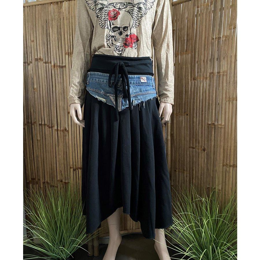 Hippie Rok Zwart Jeans