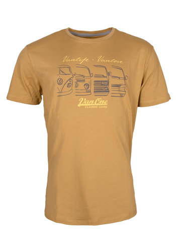 Van One We Are Family Yellow T-Shirt