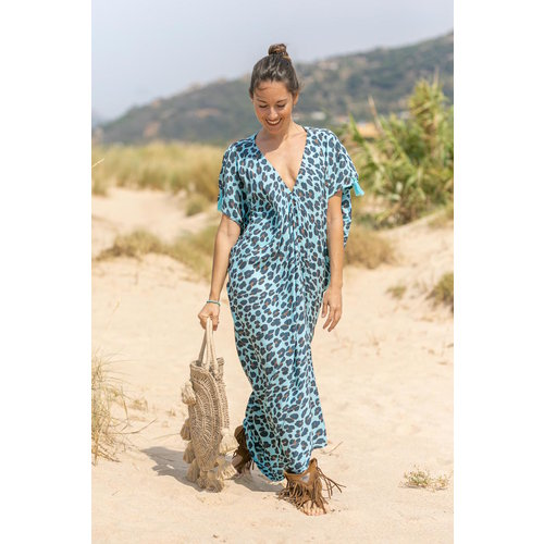 Tarifa Soul Kaftan Tarifa Leopard Blue