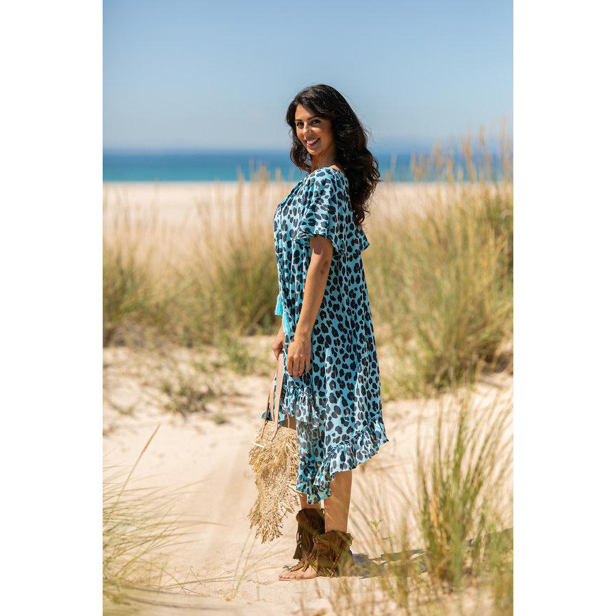 Jurk Maria Leopard Blue