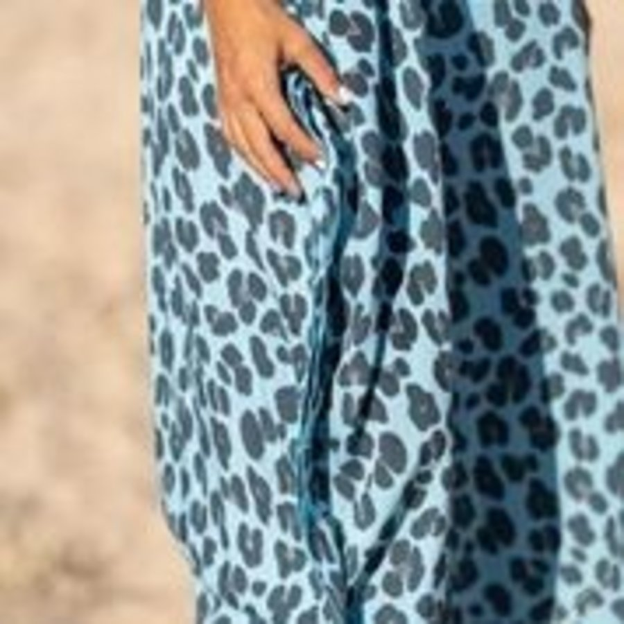 Kaftan Holbox Leopard Blue
