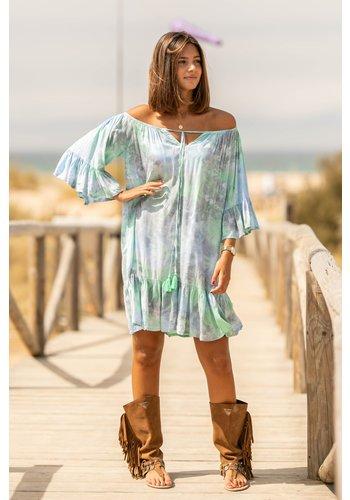 Tarifa Soul Short Dress Ada Abstract Mint