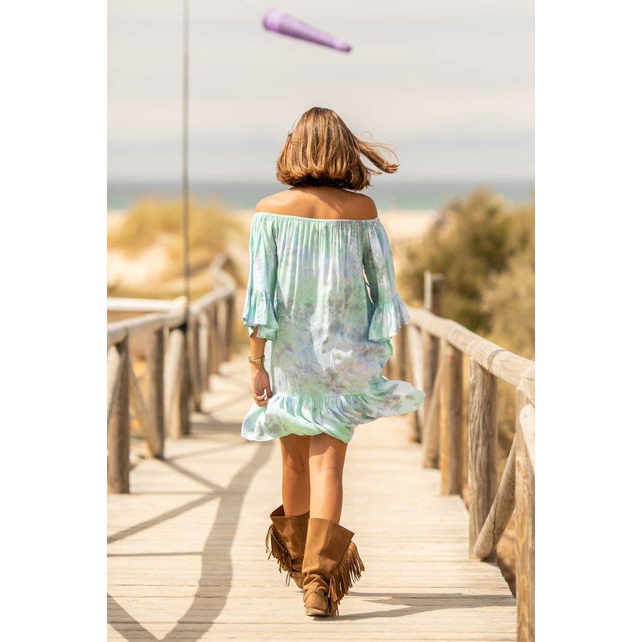 Short Dress Ada Abstract Mint