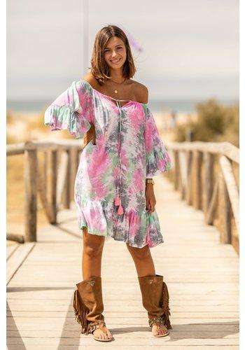 Tarifa Soul Short Dress Ada Abstract Multi