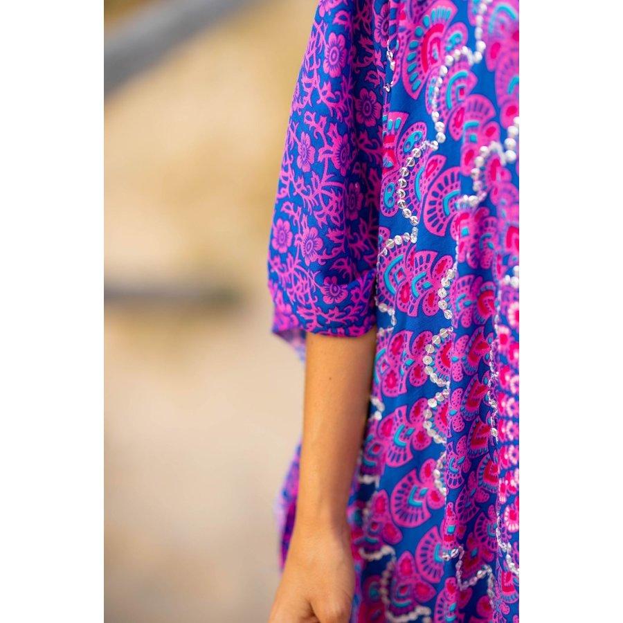 Kaftan Ibiza Long Purple Blue