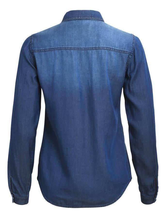 978cdd0bb90 Vila VIBISTA DENIM SHIRT -NOOS DARK BLUE DENIM CLEAN - Swear By Fashion