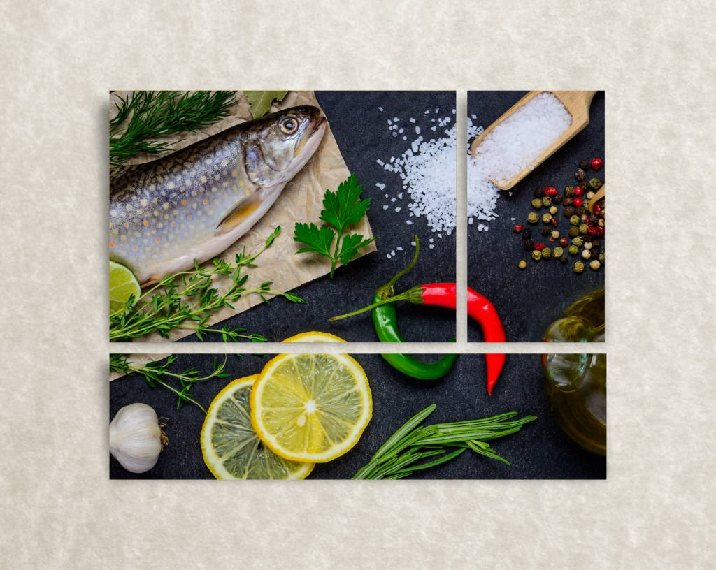Foto op canvas Fish & Lemon