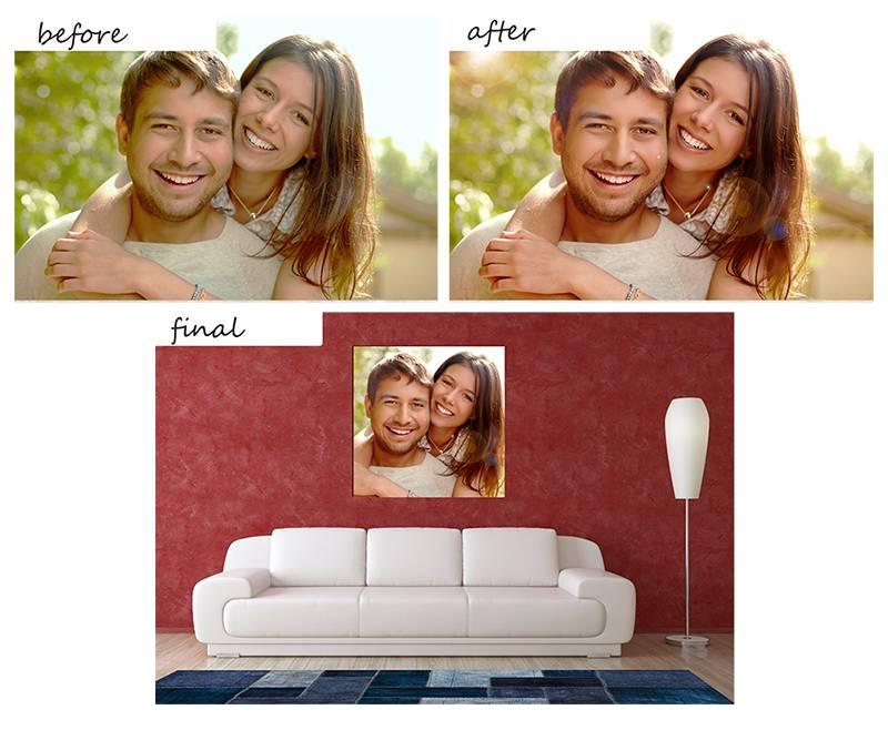 Eigen foto op canvas laten drukken  