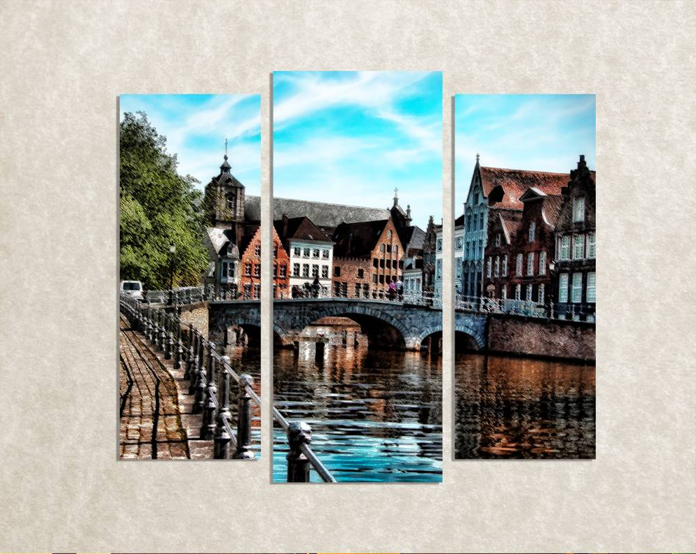 Foto op canvas van Brugge