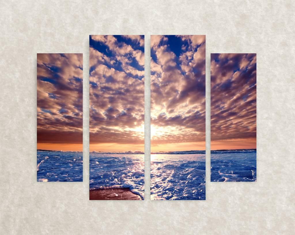 De beste wolkenluchten foto op canvas