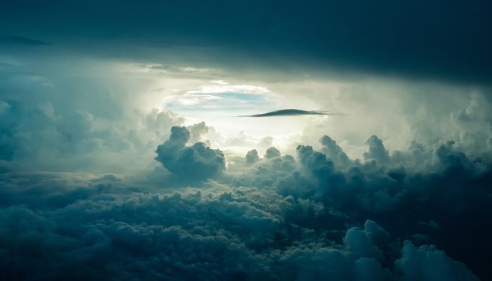 De beste wolkenluchten op canvas - donker