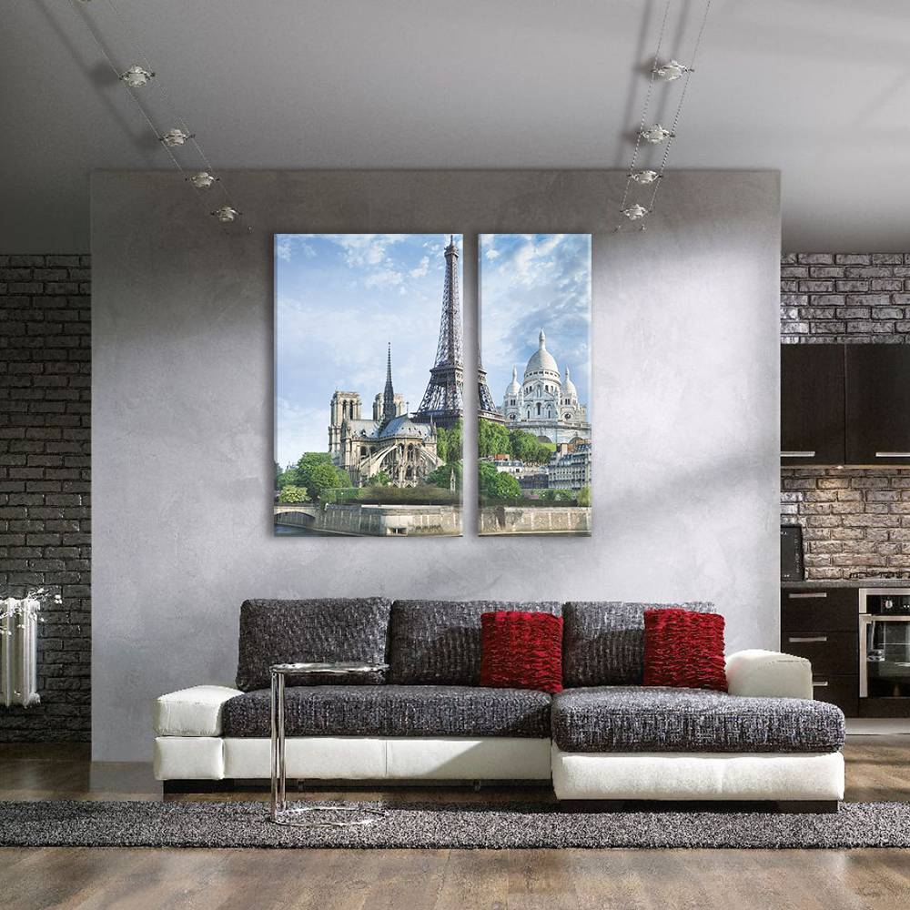 Foto op canvas - stad - 2C2