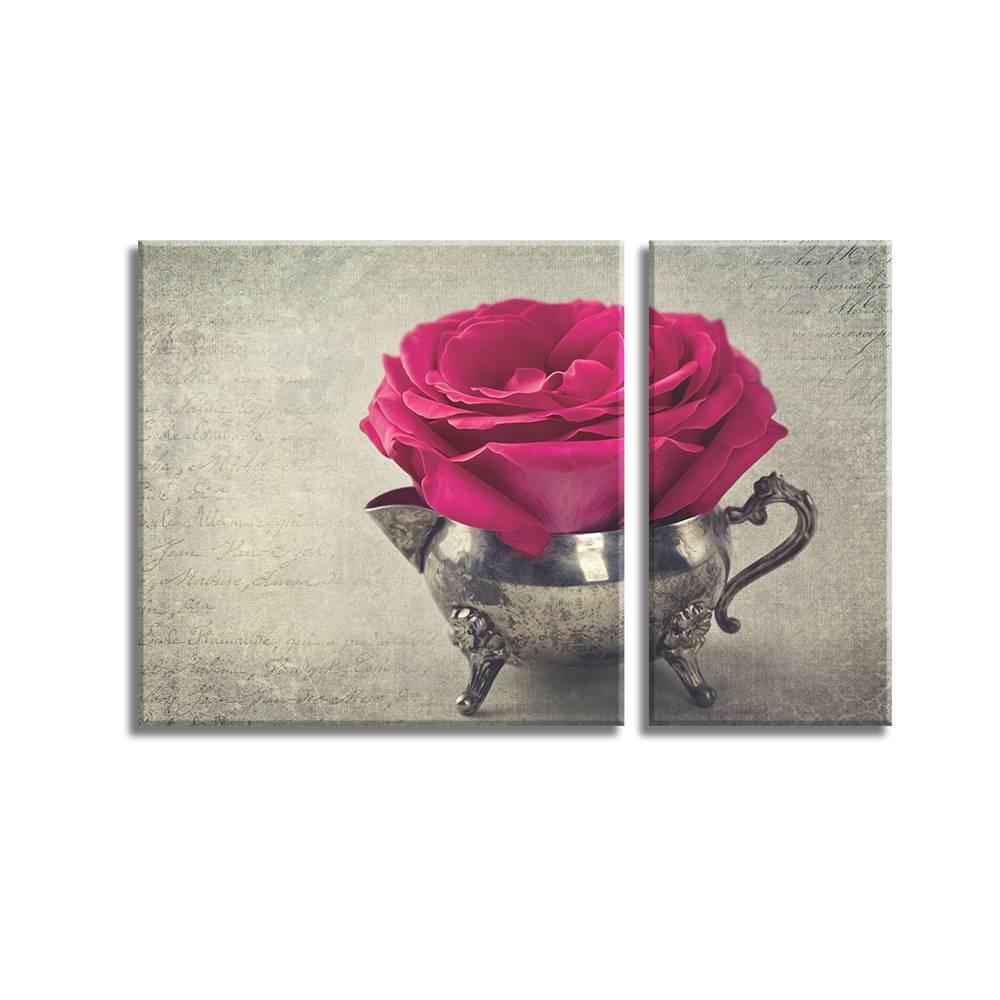 Foto op canvas - bloemen - 4F2