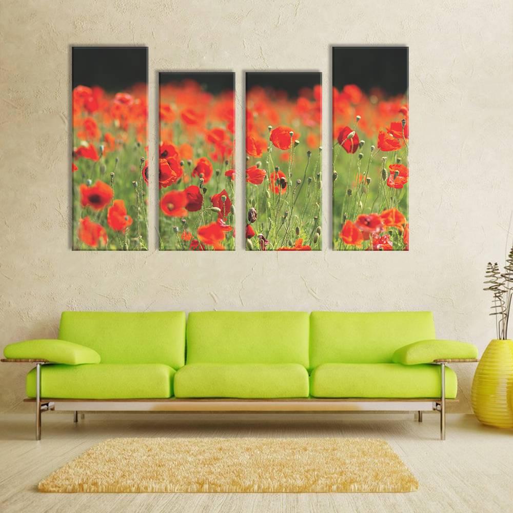 Foto op canvas - bloemen - 4F4