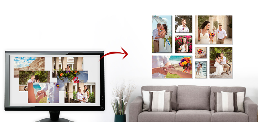 5 Tips voor de mooiste fotocollages - foto op canvas