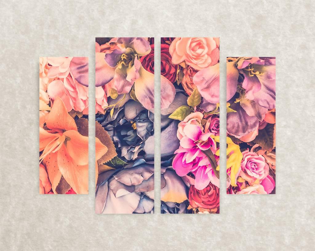 Foto op canvas - interieurdesign bloemen