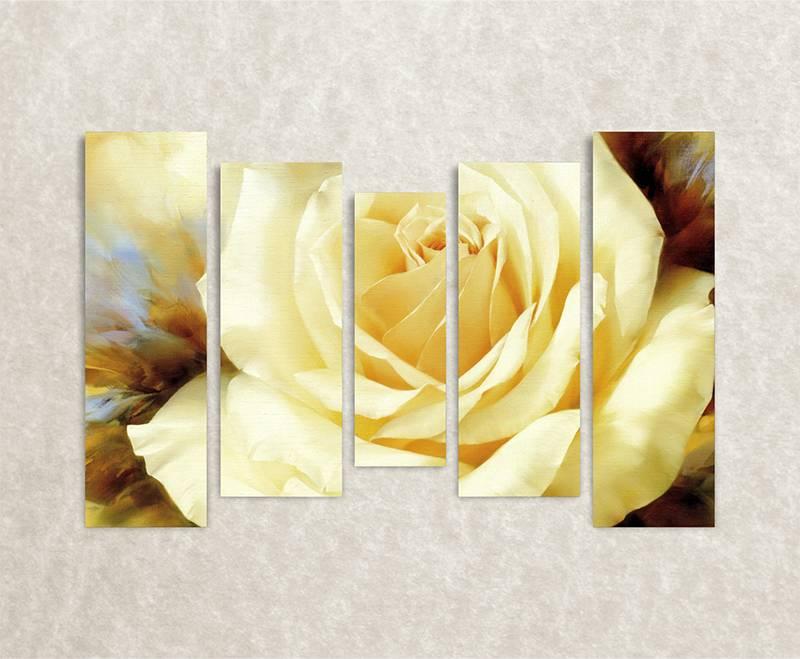 Foto op canvas - muurdecoratie met bloemen