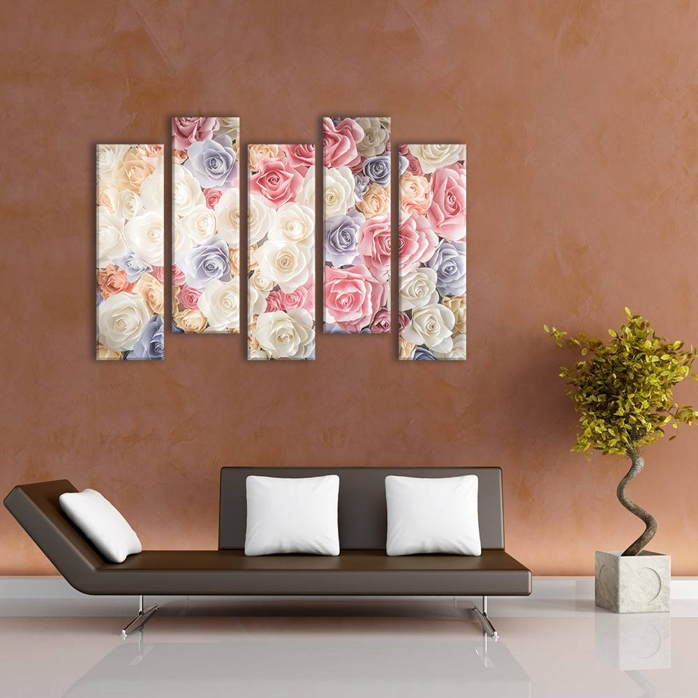 Foto op canvas - bloemen - 3F5