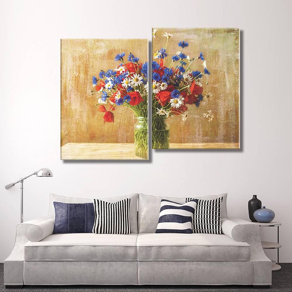Foto op canvas - bloemen - 6F2