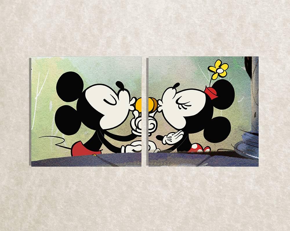 Foto op canvas van Mickey Mouse als kinderkamer decoratie