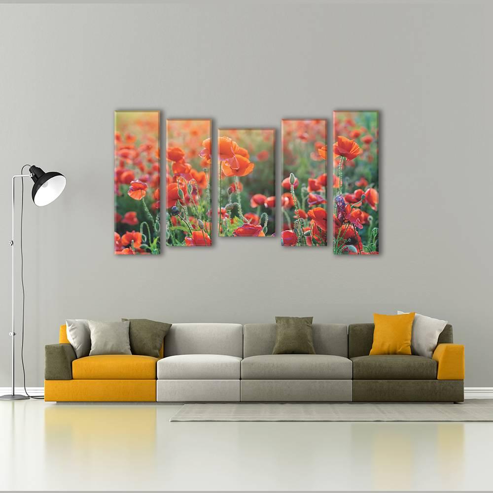 Foto op canvas van bloemen - muurdecoratie