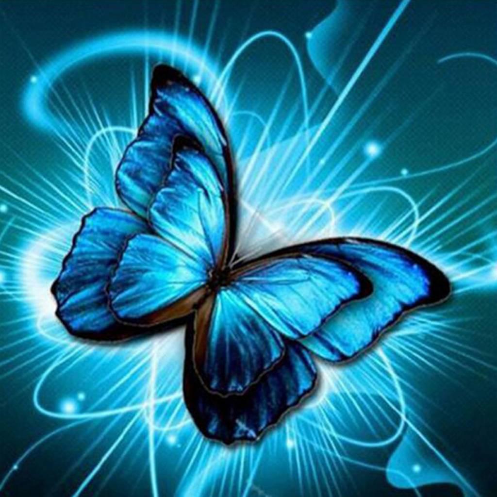 Diamond Painting - Blauwe Vlinder - DM7