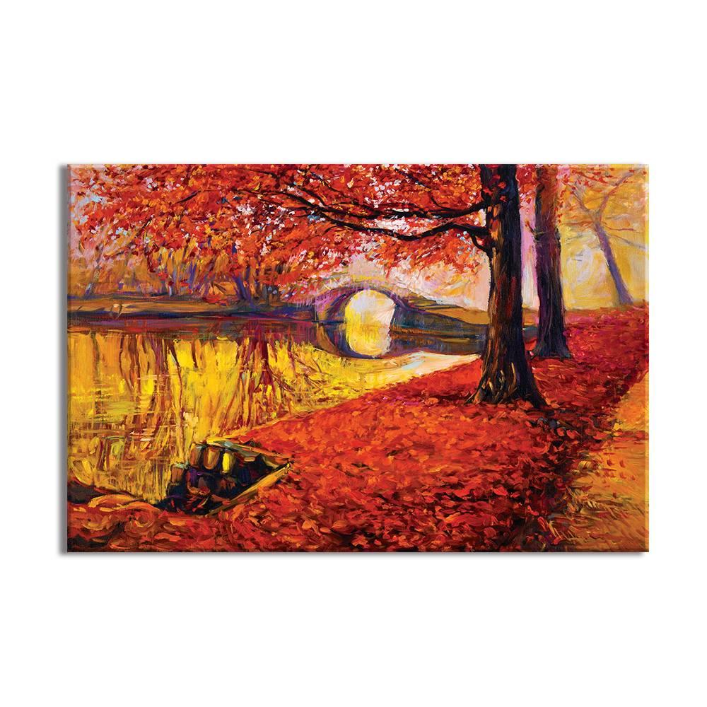 Foto op doek - Schilderij Herfst - 18A1